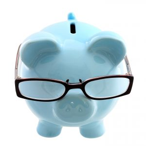 Blue Pig with Glasses
