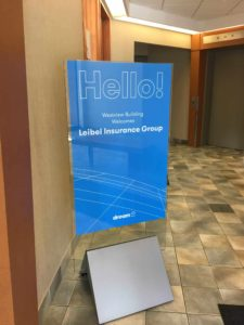 Hello sign at westview building
